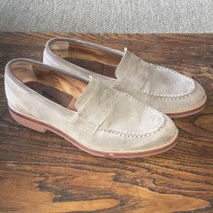 J. Crew Ludlow Gray Suede Loafers Size 9.5